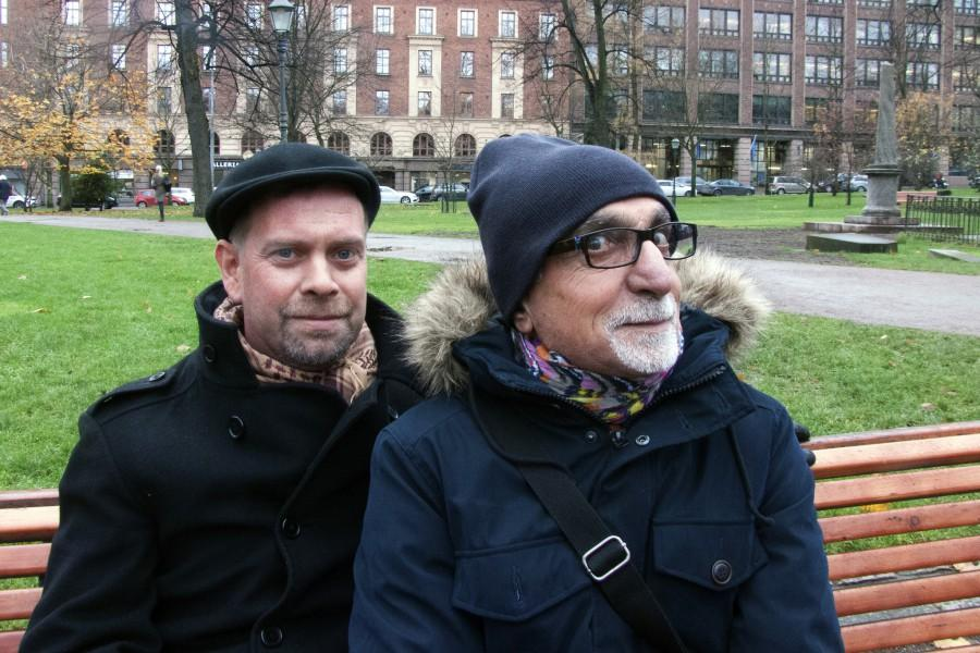 Kalle Hamm ja Dzamil Kamanger. Kuva: Pia Bartsch