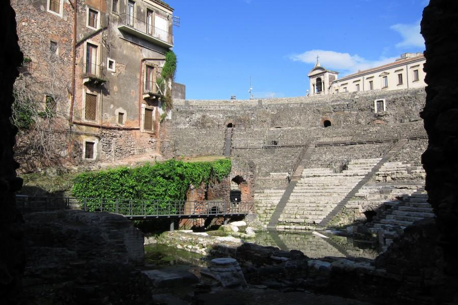 The theatre in Catania of Roman imperial date.